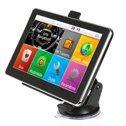 Новые карты онлайн-HD 7-дюймовый автомобильный GPS-навигатор Авто-навигатор Bluetooth AVIN FM 800 * 480 с сенсорным экраном 800 МГц WinCE6.0 Новый 8GB IGO Maps