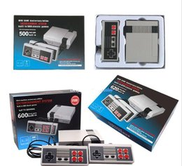 Wholesale Free Games Nes - New Arrival Mini TV Video Handheld Game Console Entertainment System Built-in 500 600 620 Classic Games for NES Games PAL&NTSC DHL Free.