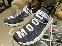Wholesale Mens Shoes Dhl - Wholesale 2018 New Human Race NMD Sports Running Shoes Athletic Mens Outdoor Boost Training Shoes Size US 5-13 DHL Free