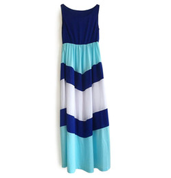 Wholesale Girl S One Piece Dresses - 2016 Summer One-piece Dress Mother Daughter Dresses Clothes Family Mom Daughter Matching Dresses Outfits Striped Girls Women's Dress 051