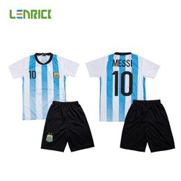 Wholesale Cheap National Team Soccer Jerseys - B Quality Cheap Kids Soccer Jersey Uniform National Team Kits Sport Trainning Sets