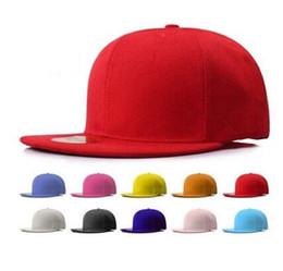 Wholesale Leisure Caps Hats - 10 colors mixorder solid plain strapback hats 6 panel snapbacks men women sport leisure baseball caps sun hat dropshipping