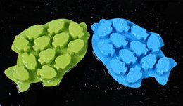 Wholesale Ice Tray Fish - FDA fish, ice tray Cake Mold Flexible Silicone Soap Mold For Handmade Soap Candle Candy bakeware baking moulds kitchen tools ice molds
