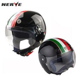 Wholesale Motorcycle Helmet Kids - 2016 New Germany NERVE Kevlar elastic fiber child half face helmets kids motorcycle helmet for boy and girl size S M