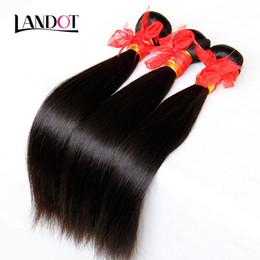 Wholesale Tangle Free Weaves - Brazilian Straight Virgin Hair 3Pcs Lot Unprocessed Brazilian Human Hair Weave Bundles Natural Black Tangle Free Dyeable Remy Hair Extension