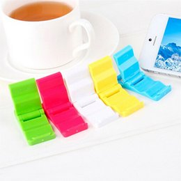Wholesale Tablet Cellphones - Universal Foldable Adjustable Stand Holder Cradle Compact Plastic Holder Stand Mount For iPhone Samsung Mobile Cellphone phone Tablet
