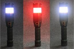 Горячие продажи супер яркий 1000 люмен XML T6 железной дороги спасательной команды открытый фонарик красный синий белый цвет сигнальная лампа от