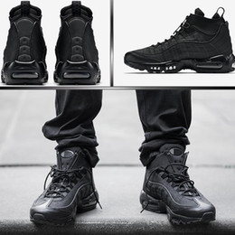 Wholesale Wedges Sneakers Black - Authentic 95 Cushion Mens Boots Hight Top Sneakers Waterproof Maxes 95 Men's Shoes Ankle Boots Size 40-46