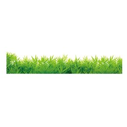 Wholesale Grass Decals - Hot !! Baseboard Green Grass Removable Art Vinyl Wall Stickers Decor Living Room Bedroom Mural Decal Home Decor