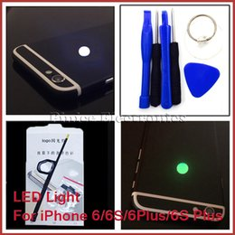 Wholesale Iphone Logo - Night Glow LED Light Back Logo Replacement For iPhone 6 6S Fashion Light For iPhone 6 Plus 6S Plus 7 Colors Light Kits