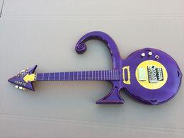 Guitare Unique En Forme De Guitare Rare Métallique Violet Prince Symbole Guitare Électrique Floyd Rose Tremolo Bridge Or Matériel Top Vente ? partir de fabricateur