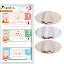 Wholesale Steps Facial Treatment - 10pcs Holika Pig Nose Remove Blackhead Acne Remover Clear Black Head 3 Step Kit Beauty Cleaning Facial Skin Care Products