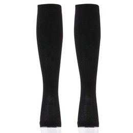 Wholesale Black Pantyhose Legs - Wholesale-Miracle Socks Antifatigue Compression Stockings Soothe Tired Achy Unisex Knee Socks Pantyhose Supports Toe Thigh Leg Stocking