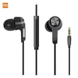 Wholesale Ear Headphones W Mic - Xiaomi M5 Xiaomi Piston 3 Earphone Metal piston xiaomi Miband Stereo headphone headset Earbuds With Remote Mic Handsfree Volume Earphone W