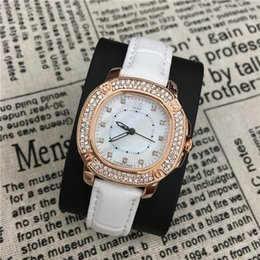 Wholesale Sexy Watches Women - 2017 Fashion lady watches women watch Genuine Leather Colorful Luxry Bracelet Shine Diamonds Top Brand Gifts Accessories Sexy free shipping