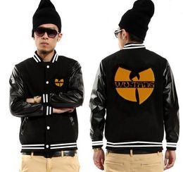 Wholesale Discount Coats For Men - 2017 new Wu tang baseball jackets for men fashion hip-hop mens coats free shipping new discount Wu tang clothing hip hop jackets