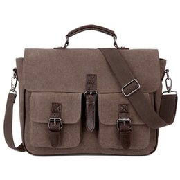 Wholesale Vintage Messenger Bags Men Canvas - The new multi-function Shoulder Messenger laptop bag can be shoulders back dual-use leisure and business bags 10 can be customized logo