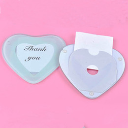 Wholesale glasses photo frame - Cup Glass Mat With Silk Ribbon And Thank You Card European Style Heart Shape Photo Frame Coaster Creative Gift 1 25ab F R
