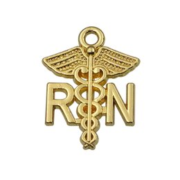 Wholesale Nursing Charms - Hot Alloy Medical Sign RN Registered Nurse Charms Catholic Jewelry Findings AAC191