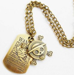 Wholesale Classic Licenses - One Piece necklace pendant necklace dual licensing cartoon toy jewelry