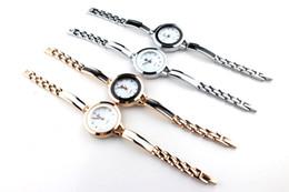 Wholesale Thin Leather Bracelet Watch - New Fashion Women Ladies Wristwatch Vogue Thin Leather Strap Quartz Bracelet Wrist Watch With Round Shape BY0000