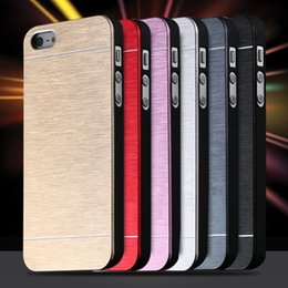 Wholesale Iphone 5s Case Cool - Cool Metal Gold Case For Apple iphone 5 5S SE Aluminum Plastic Hard Back Phone Accessories BrandLuxury Cover for iPhone 5S