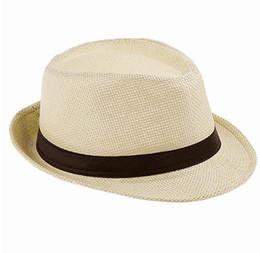 Wholesale Packing Cap Hat - Fashion Handwork Women Summer straw Sun hat Boho Beach Fedora hat Sunhat Trilby Men Panama Hat Gangster Cap Good Pack 25
