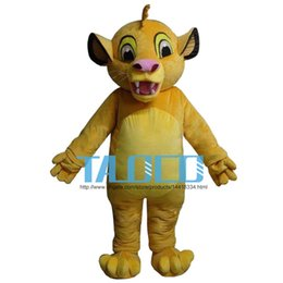 Wholesale Lions Mascot Costumes - Masoct Lion King Simba Mascot Costume Custom Fancy Costume Anime Kits Mascotte Theme