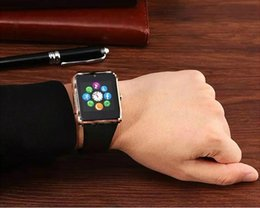 Wholesale Used Apple Wholesale - A1 Smart watches smartwatch camera clock sync notifier support SIM TF card 8 colors for android