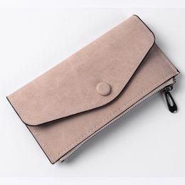 Wholesale Thin Ladies Purses - Women Scrub Purse Soft Handbags Card Holder Retro Lady Long Wallet Fashion Bags Thin Wallet vintage style