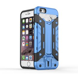 Wholesale Iphone5 Case Armor - Card Armor Kickstand Heavy duty With Card Slot case cover for iphone5 5c 5SE iphone 6 6S 10pcs lot
