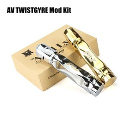 Wholesale Mechanical Mod Electronic Cigarette - Newest AV TWISTGYRE Mechanical Mod Kit 18650 Twistgyre Mod with Matching RDA Kit Clone Gold Silver AV Gyre Style electronic cigarette Kits