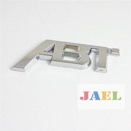 Wholesale Cheap 3d Stickers - Auto 3D Silvery Chrome ABT Logo for Volkswagen Emblem Decal Badge Sticker Cheap logo slice