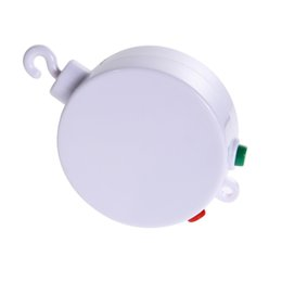 Wholesale Wholesale Music Store - 12 Melodies Songs Musiccal Bed Bell Crib Mobile White Color for babies Electric Autorotation Type Nursery Store Wholesale