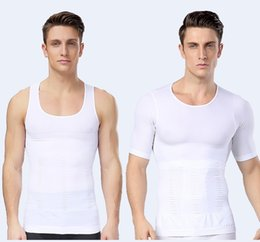 Wholesale Wholesale Fashion Online Free Shipping - online slim new fashion body sculpting corset for sexy man 80% nylon 20% Spandex black-white two colors shipping free