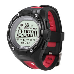 Wholesale Visible Dust - DHL 50pcs XWatch Outdoor Sport Bluetooth Smart Wtach Red Smartwatch Waterproof Dust-proof Night Visible Pedometer with Retail Box