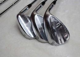 Wholesale 52 Degree Wedge - AAAAA quality golf wedge SM6 wedges steel silver 50 52 54 56 58 60 degree club clubs gride sets Steel shaft