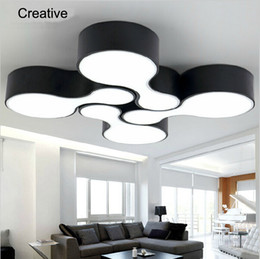 Wholesale 15 Lamp Shade - New 2017 modern led ceiling lights for living room bedroom 12w acrylic shade+iron body balcony kitchen dining room ceiling lamp