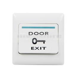 Wholesale Exit Push Button Switch - 10pcs lot Hot Sales Push Door Release Exit Button Switch for Electric Access Control System White