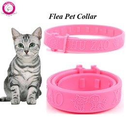 Wholesale Kitten Collars Bells - Wholesale Soft Silicon Pet Cat Flea Collar Adjustable Practical Tick Mite Louse Reject Collar For Cats Kitten