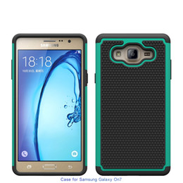 Wholesale Rugged Protection - Dual Layer Defender Rugged Armor Cell Phone Protection Hybrid Case For Samsung Galayx On5 On7 2016 J5 J7 Prime Cover Skin Shell Shockproof