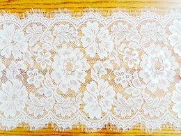 Wholesale Lace Wedding Chair Sashes - 27*300cm Jacquard Wedding Lace Table Runners Chair Sashes Table cloths Home Garden Kitchen Bar Party Event Decoration Table Skirt New