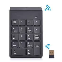 Wholesale Keyboard Usb Wireless Slim - 2.4G Wireless Keyboard USB Numeric Keypad 18Keys Mini Digital Keyboard Ultra Slim Number Pad High Quality For Compute PC Laptop