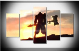 Wholesale League Legends Axe - game character axe Poster canvas league of legends art oil painting home decor