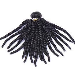 spiralverlängerung menschliches haar Rabatt 8a grade Nigeria Tante Funmi Haar Unverarbeitete Brasilianische Menschenhaarverlängerungen Virgin Spiral Curls 1 Bundles, federnd Curly 1 STÜCKE Viele