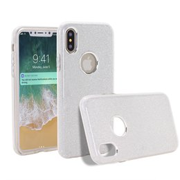 Wholesale Hybrid Slim - Bling Glitter Pretty sparkle 3 Layer Hybrid Anti-Slick Protective Soft slim TPU PC Case for durable girls for iphone X 8 7 6