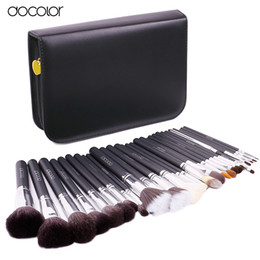 Wholesale Nature Pcs - 29 Pcs Brand Makeup Brushes Professional Cosmetic Brush Set High Quality Makeup Set With Case Nature Bristle Make Up Brushes