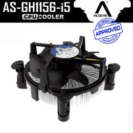 Wholesale Heatsink Fan 775 - Wholesale- ALSEYE (2pieces)CPU Fan Cooler with Aluminum Heatsink and 90mm Fan Radiator 2300RPM cpu Fan for LGA 775 1150 1151 1155 1156