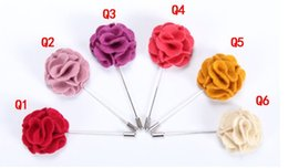Wholesale Mens Wedding Suit Flowers - Woolen Cloth Flower Brooches Inserted High-grade Mens Suits Long Brooch Pins Men's Accessories Fashion Jewelry Decorations
