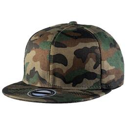 Wholesale Wholesale Flat Bill Hats - 2017 Camouflage Camo Flat Bill Baseball Hats Cotton Snapback Adjustable C00275 CAD